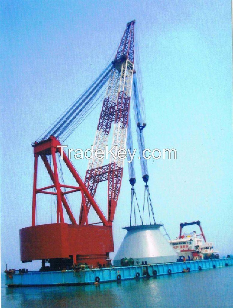 1000t floating crane barge 1000 ton for cheap sale crane ship vessel 1000t