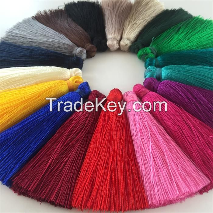 Colorful cotton chinese tassels trimming fringe for car graduation cap decoration