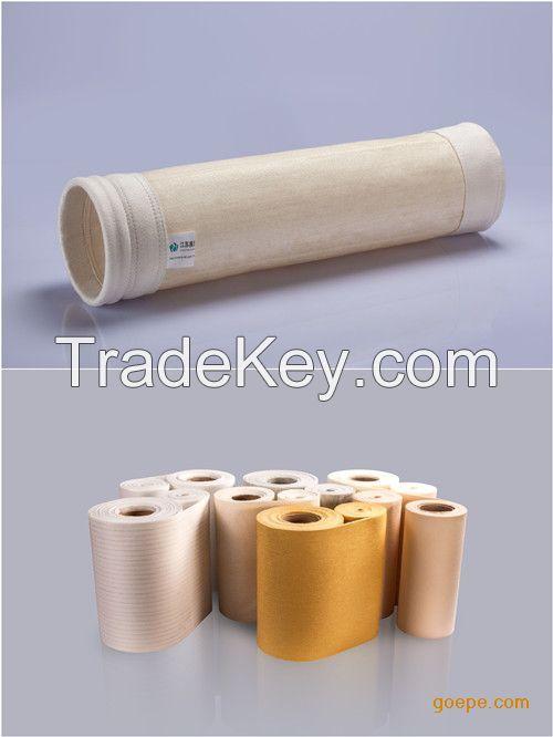 High temperature aramid  dust collector filter bag pocket