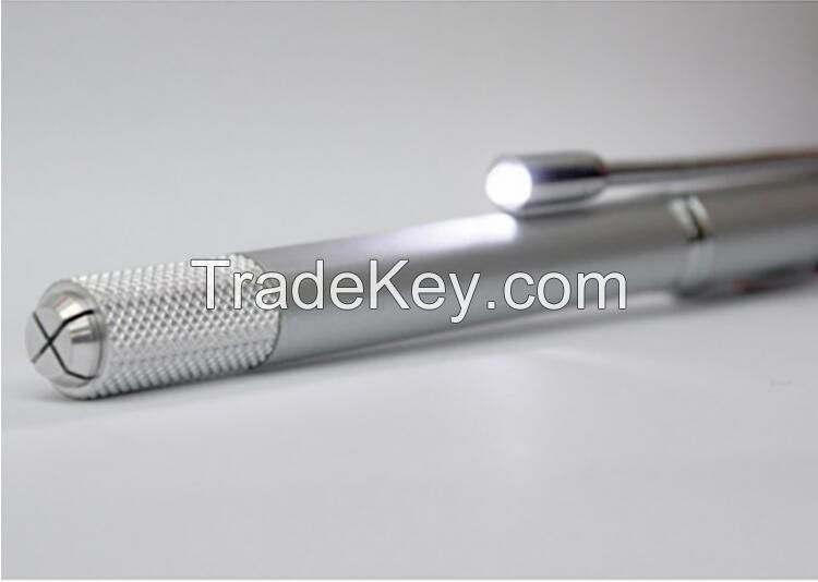 LED Light Manual Tattoo Pen for Microblading and Teaching