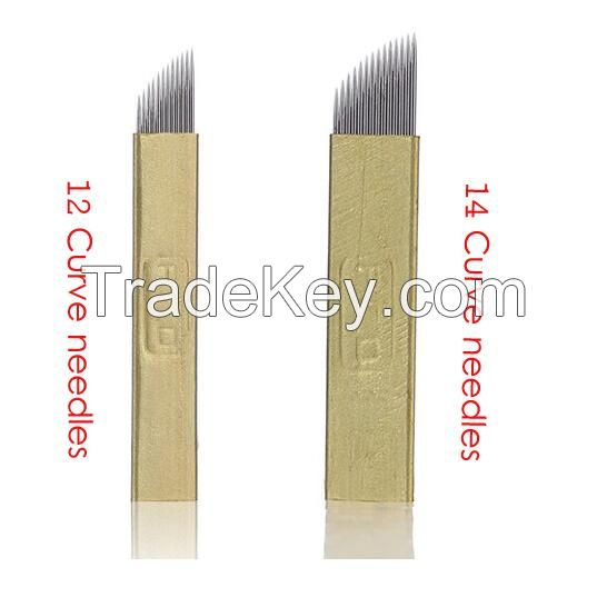 PCD 3D Eyebrow embroidery Microblades 12PINS