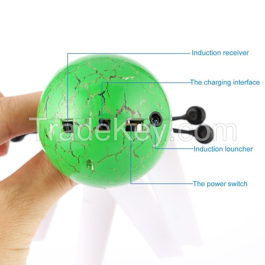 OBCANOE infrared Induction Flying Ball Built-in Shinning Color Changing LED Lighting (Green)