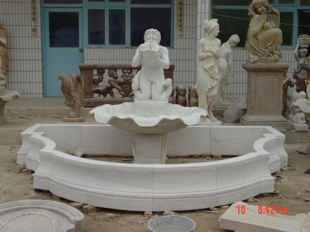 stone carving  fountain