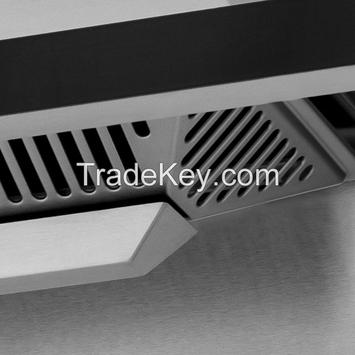 New Euro style stainless steel touch control range hood