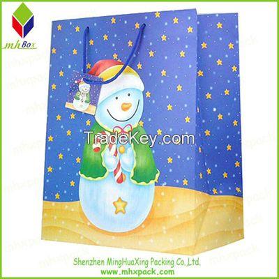 Customized Printing Christmas Gift Paper Bag