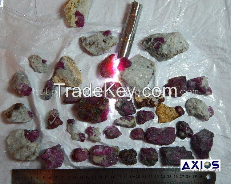 Wholesale uncut rubies