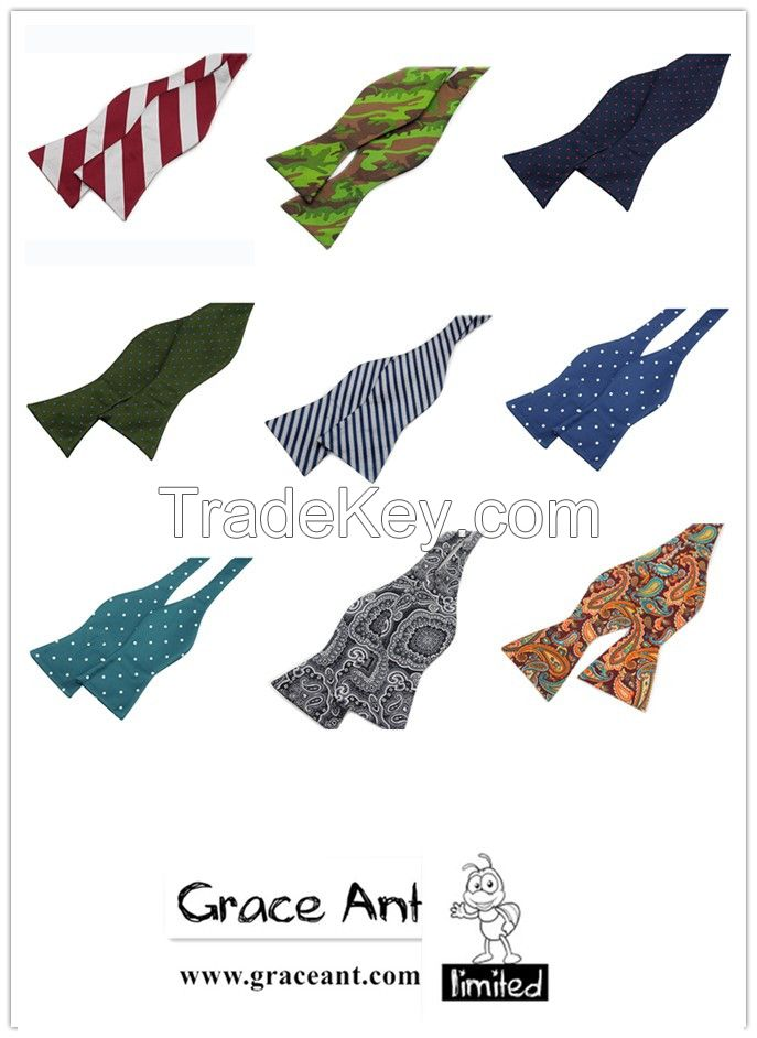 New Arrival 100% Silk Cheap Business Self Tie Bow Tie From Grace Ant
