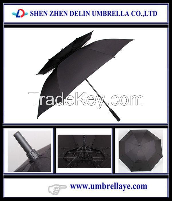 Double layer windproof umbrella fashion umbrella straight golf umbrella