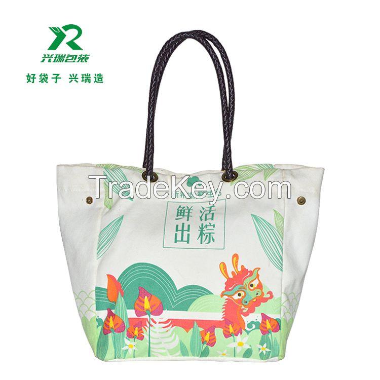 Supply Cotton Canvas shopping bag eco friendly canvas tote bag fashion casual cotton shoulder bag