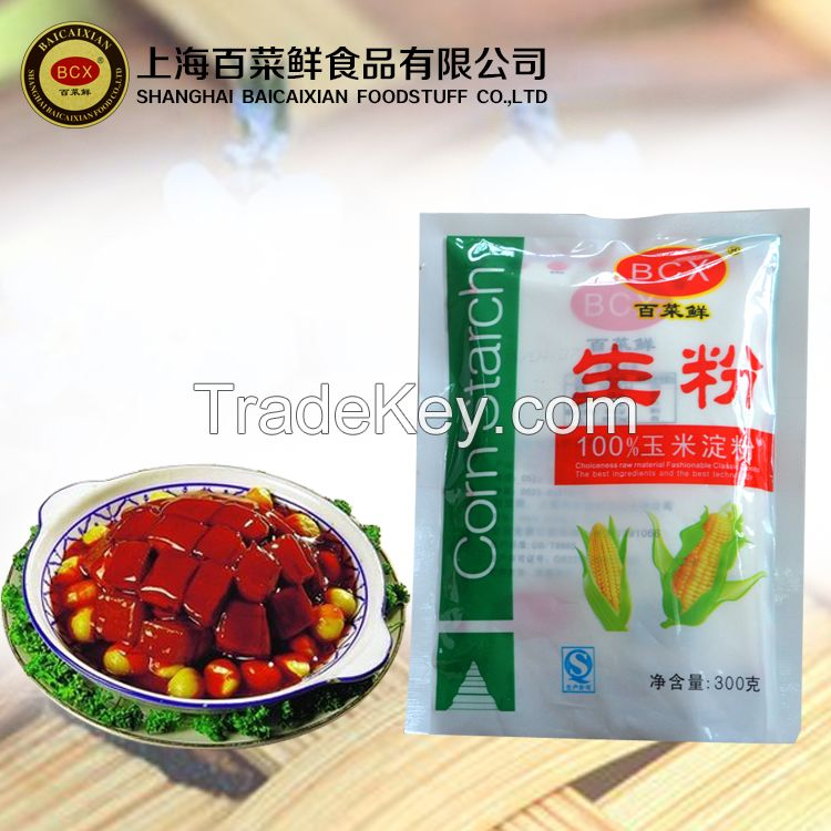 BaiCaiXian high quality corn starch corn flour offered by China factory