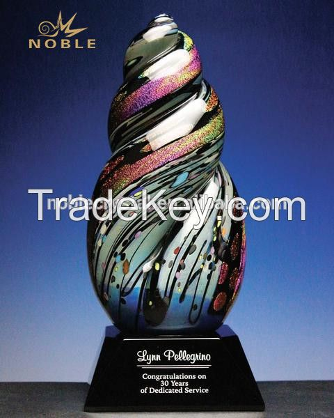 Fashion Hand Blown Glass Trophy Designer Home Decor