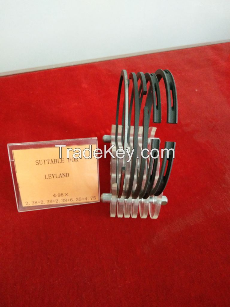 Piston rings for engineering vehicles, cars, trucks, vans and other vehicles