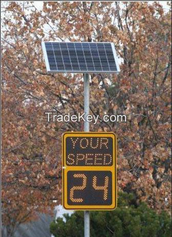 solar powered radar speed led display detection