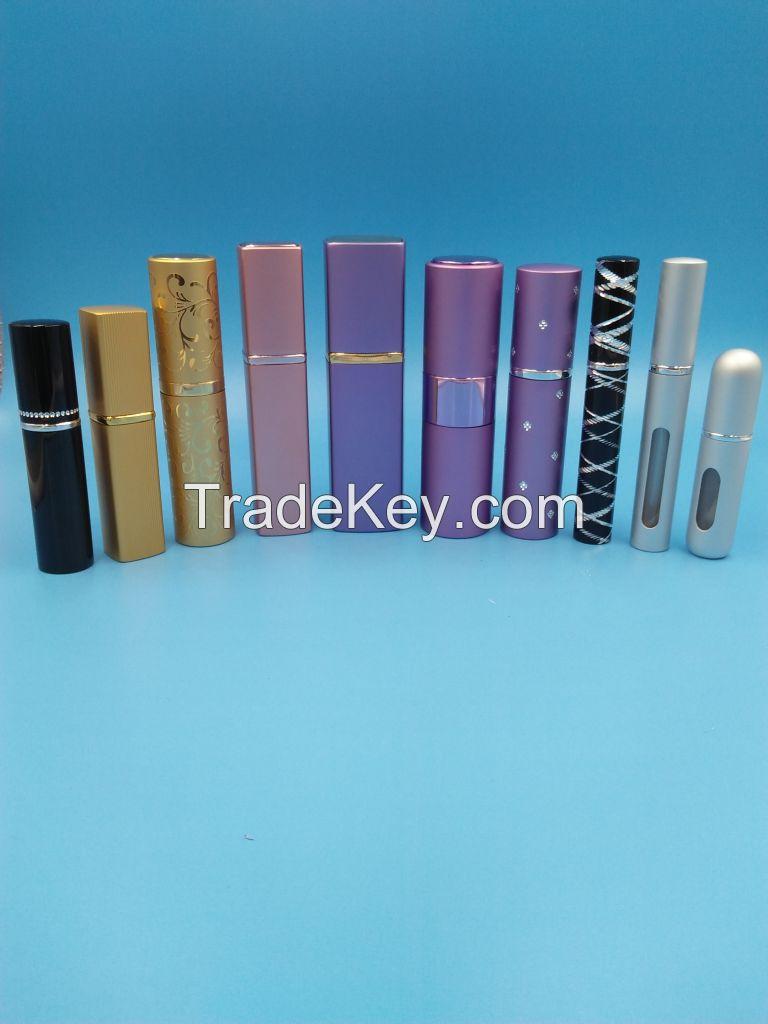 Aluminum perfume atomizers 8ml 10ml 15ml 20ml