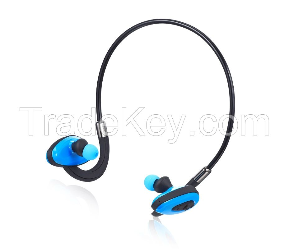 Waterproof Bluetooth Headset with 8GB memory music player