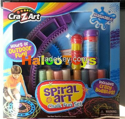 Spiral art chalk fun set