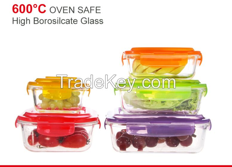 pyrex glass food container with airtight lid