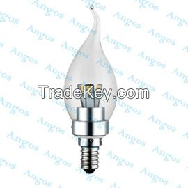 Led candle light 3W4W5W 180 degree aluminum good looking home decorative UL CE 3 year warranty