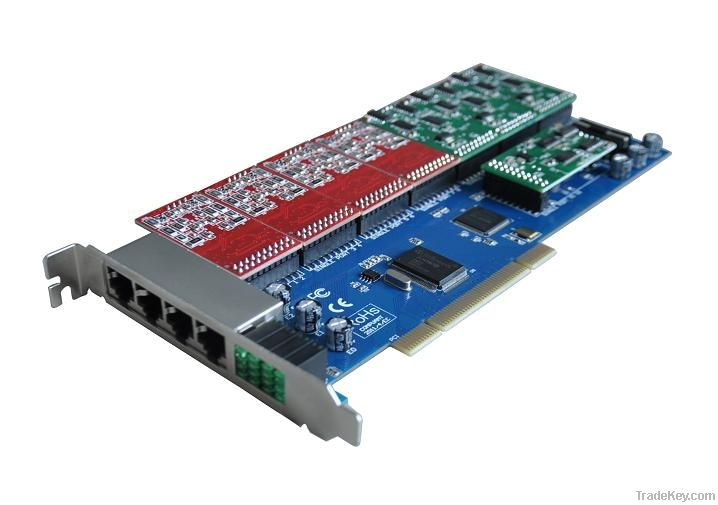 4-24  fxs/fxo pci asterisk card all function as digium
