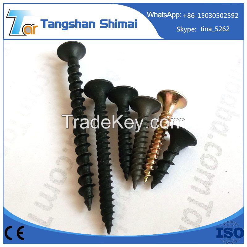 C1022 cheap black phosphated fine and coarse thread drywall screw, galvanized drywall screw