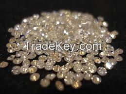 Real polished diamond Round Cut