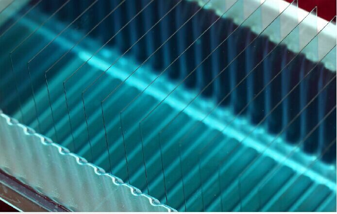 Polished Optical Blue Glass Sheet