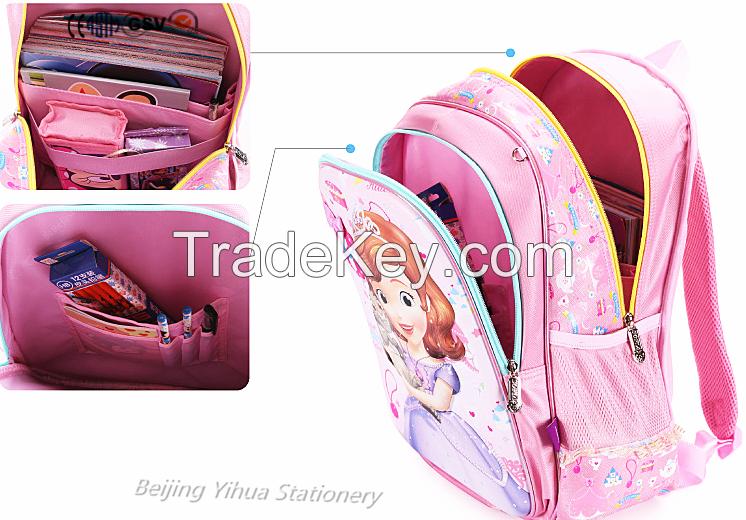 cartoon designed kids school bag
