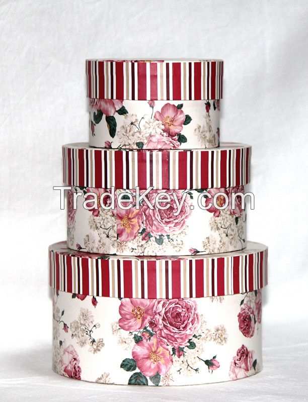 Fasion design different size colorful paper gift box set