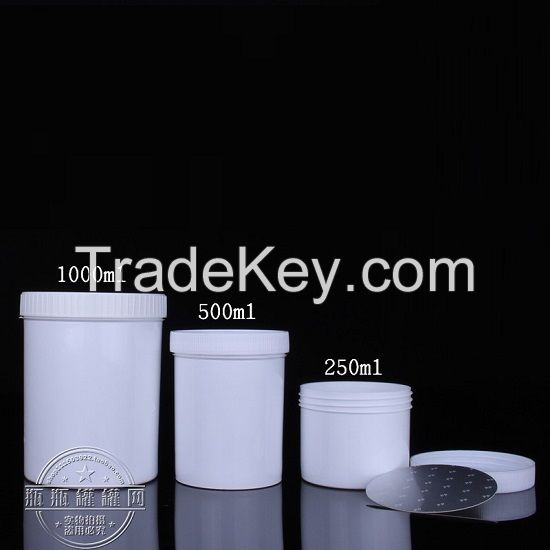 Water Bottles, Amber HDPE Leak Proof Wide Mouth Rounds with Screwcaps 5ml
