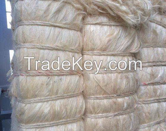 100% Natural Sisal Fiber ( UG, SSUG ) Sisal Fiber / Raw Kapok Fiber