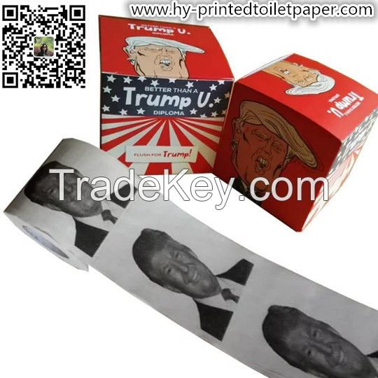 Funny Novelty Custom Printed Color Toilet Paper Tissue Towel factory