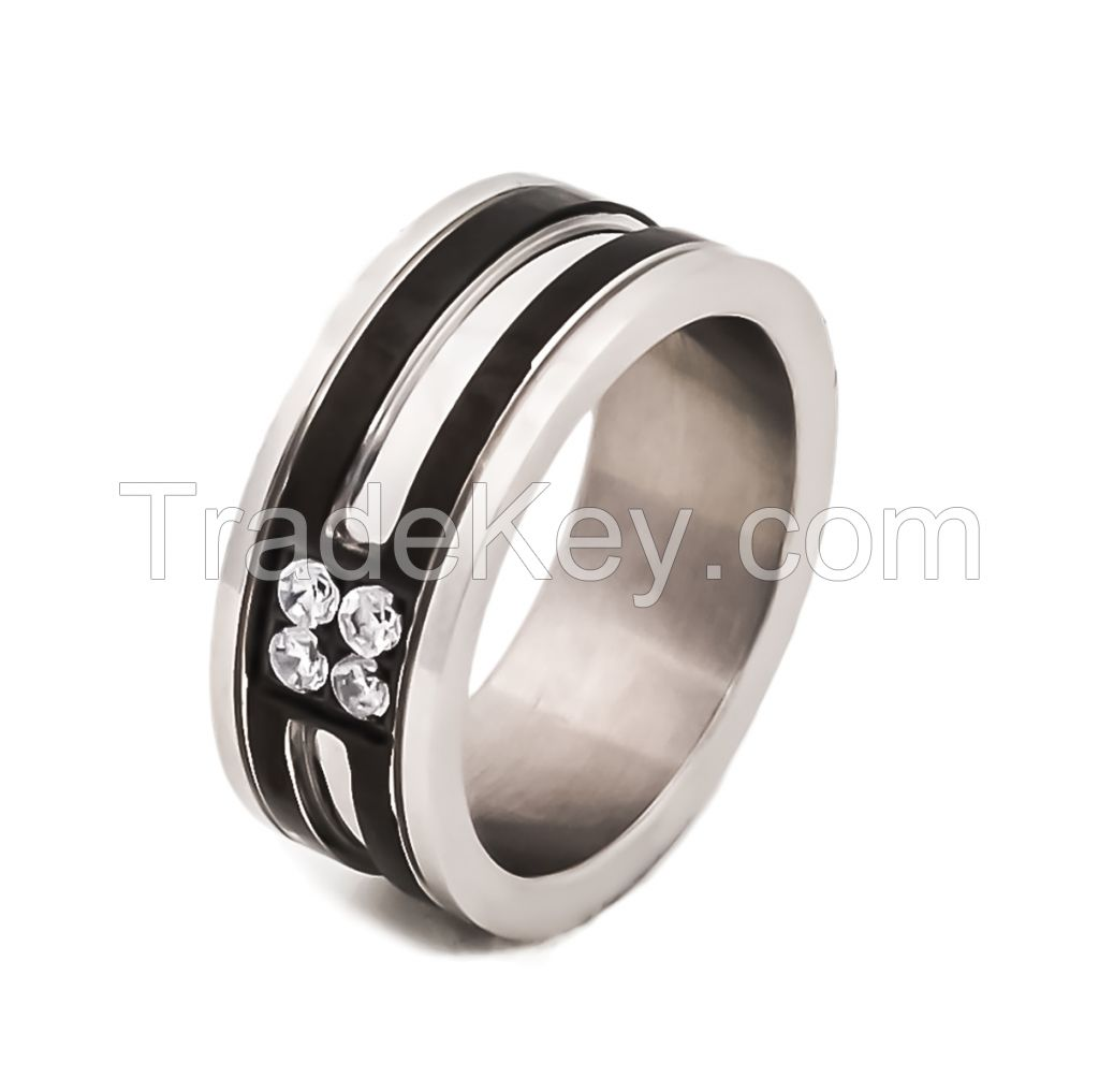 stainless steel womens' ring for lovers