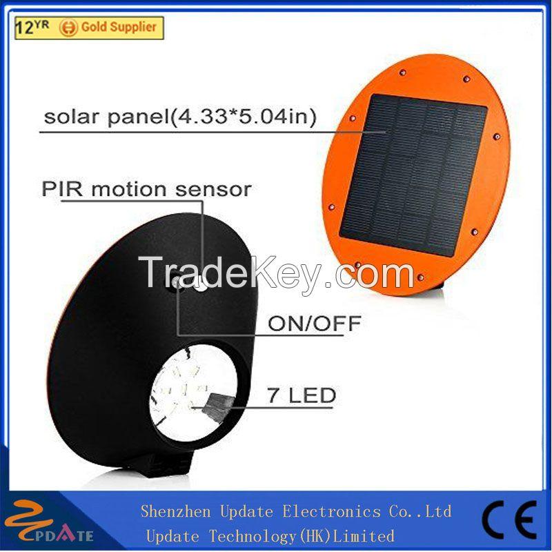 IP65 smart solar led light fixture outdoor wall light fixture 7 led waterproof