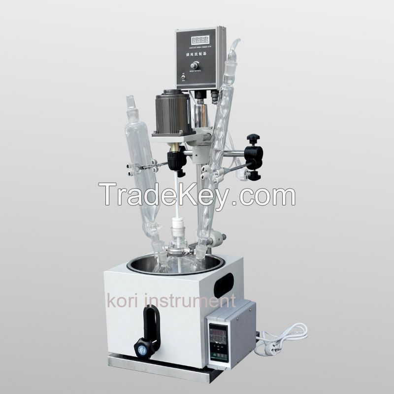 High quality borosilicate GG3.3 double layer jacketed glass reactor