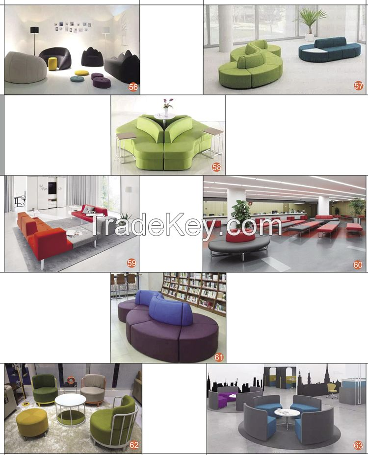 High Quality Contemporary Sofa Highback Sectional Office Sofa With Armrest For Open Plan Areas