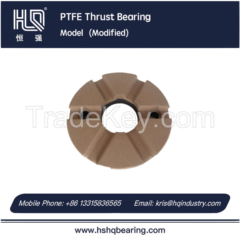 Modified PTFE thrust bearing