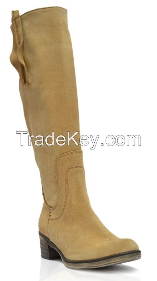 Ukraine genuine velour women's High heels Passo Avanti(4503)