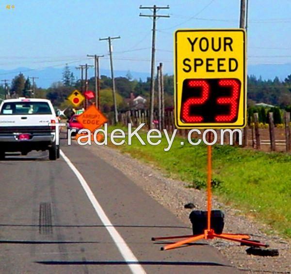 roadway traffic safety signs radar speed warning signs