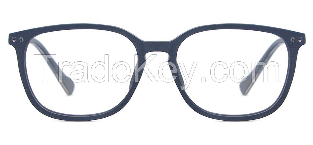 2016 newest designer for men and women wooden texture acetate full rim optical glasses frames