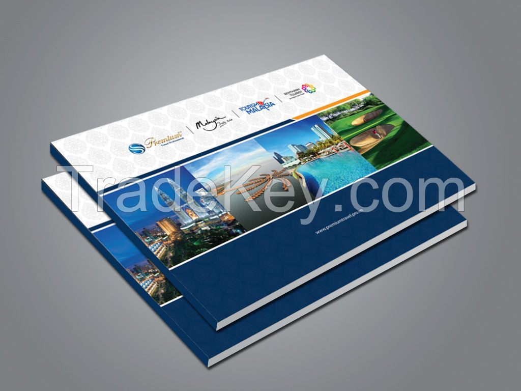 Four color cateloge printing with UV coated title