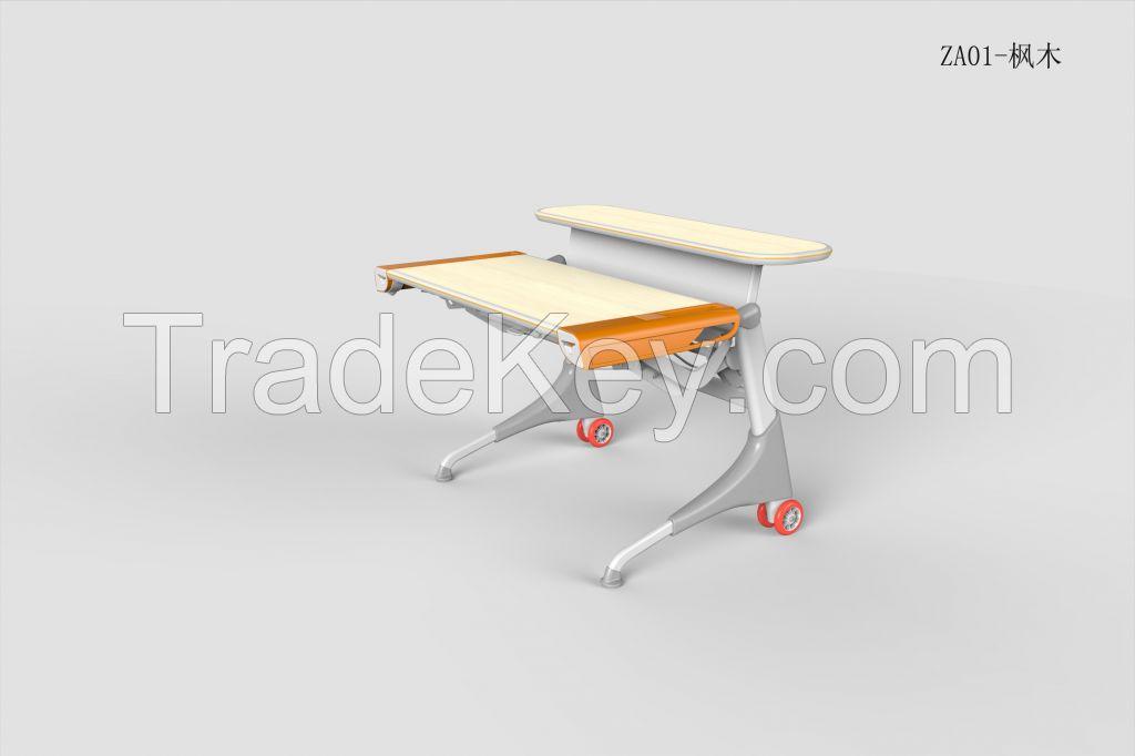 Ergonomic Adjustable Study Desk ZA01 White Maple Color