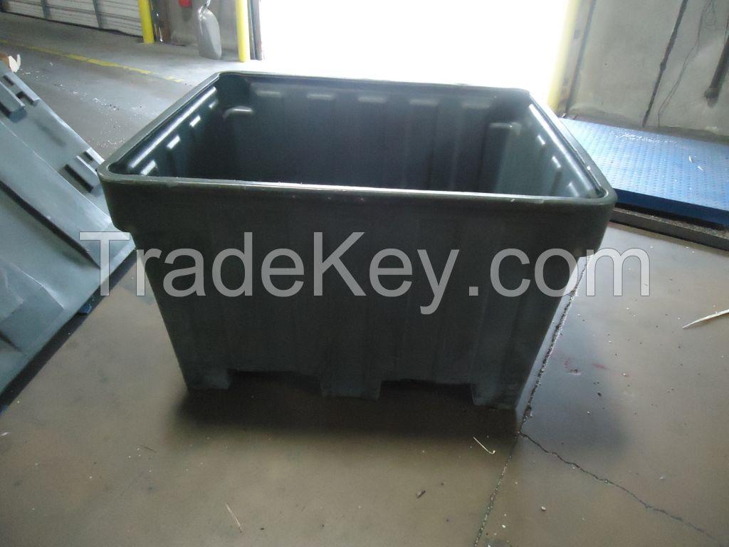 Orbis BC4842-30 plastic bulk containers, 48x42x30, 4 way