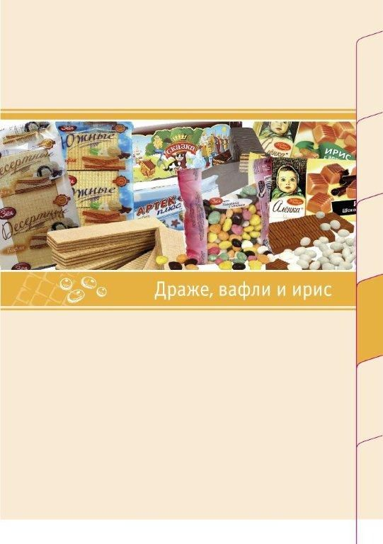 sweets, wafer candies, fruit jelly, marshmallow, wafers, toffee, cookies, gingerbread and so on.