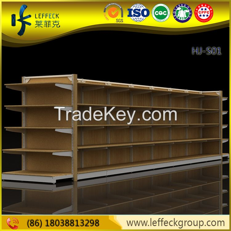 Customized size metal supermarket shelves for grocery display