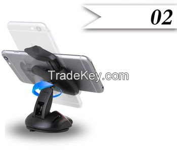 Universal mouse like one touch mobile phone car holder