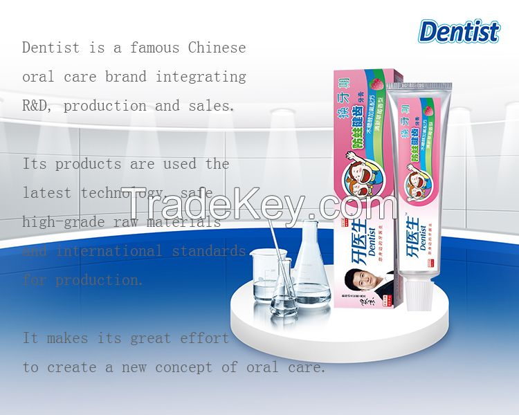 50g children strawberry flavor anti-cavity toothpaste OEM