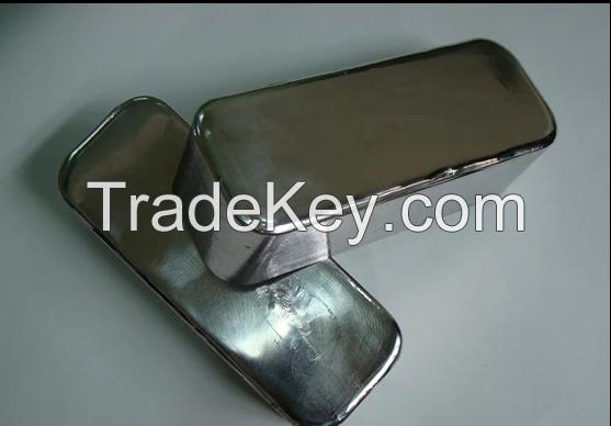 china factory high purity indium ingot 6n 99.9999% lower price