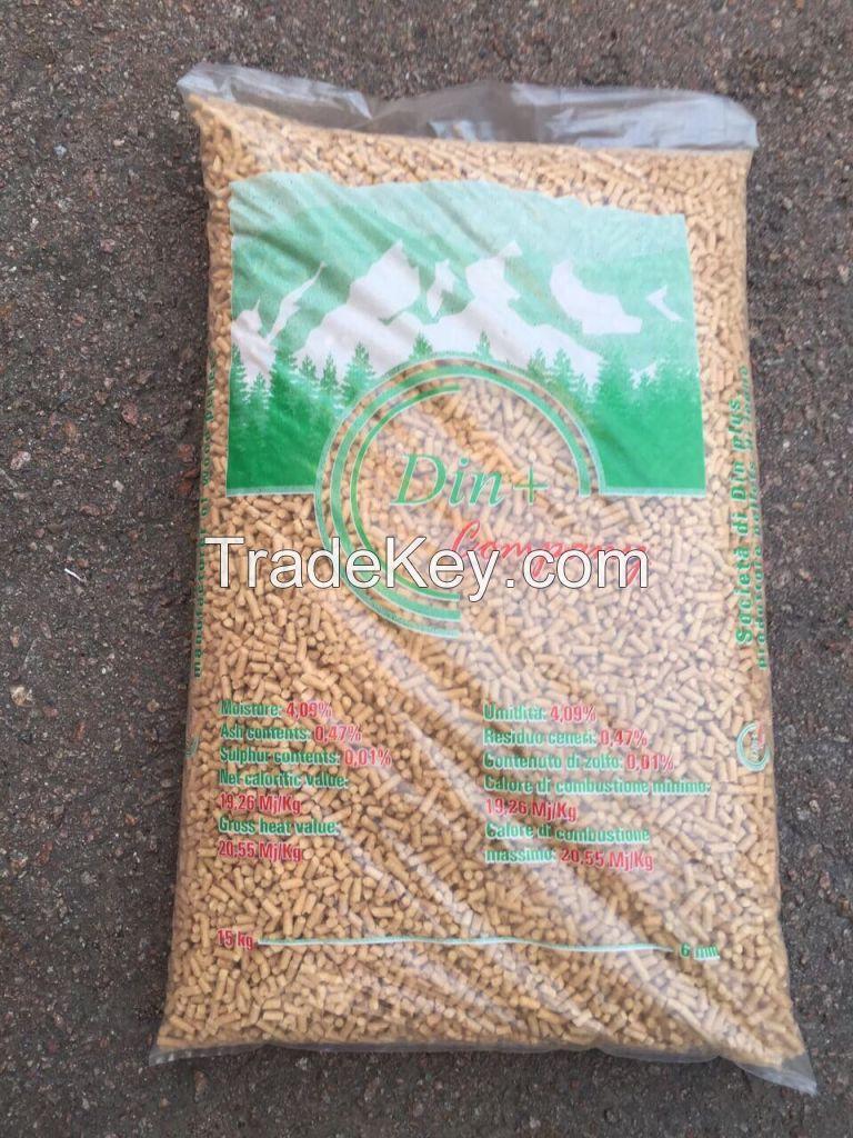 Wood Pellets Din+ Premium Quality