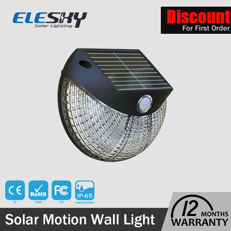 Fast Shipping Outdoor Garden Waterproof Solar Led Wall Light With Motion Sensor