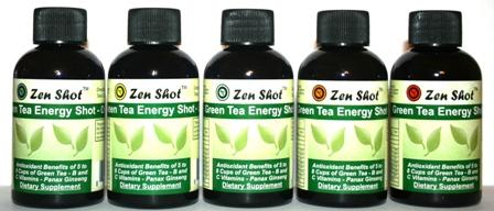 Zen Shot - Green Tea Energy Shots (Caffeine Free)